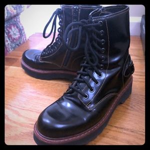 Black Coach military style boots